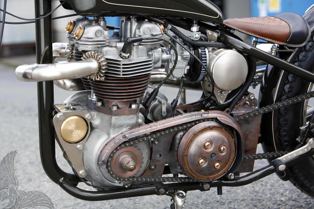1958 triumph tr6 bobber heiwa motorcycles ... much info. it's the yokohama queen by heiwa motorcycles in hiroshima. if ...