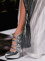 Метални обувки с платформа и висок ток Viktor & Rolf