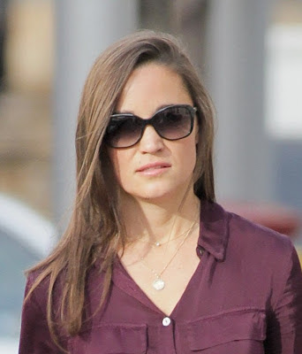 Pippa  Middleton Monogram Disc Necklace