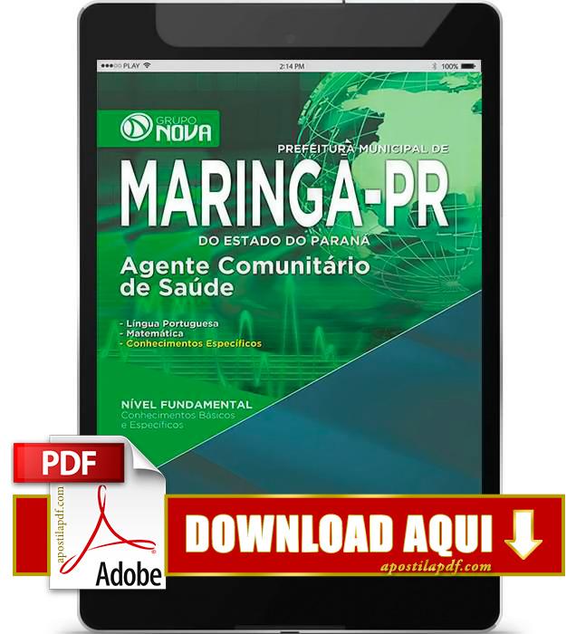 Apostila Maringá 2015 PDF Download Agente Comunitário de Saúde