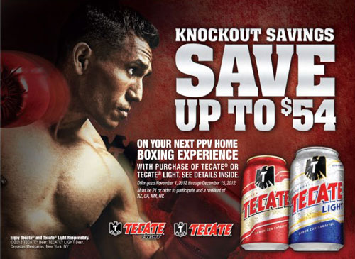 Tecate Beer Rebate Pacquiao vs. Marquez 4 HBO PPV