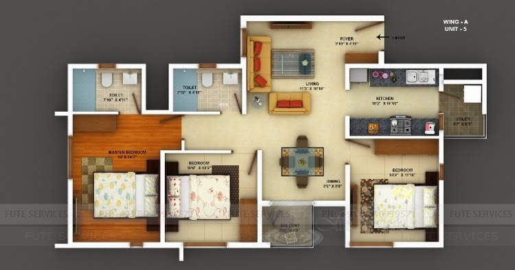 Floor Plan Mantri Energia