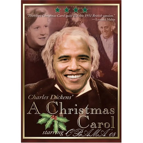 pictures of obama as scrooge