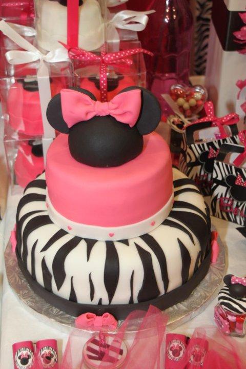 Maddycakes Muse: Zebra Minnie Mouse Party