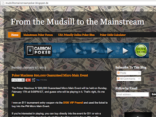 "Sehr unterhaltsam: ""From the Mudsill to the Mainstream"", der Pokerblog von Jay."