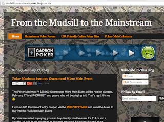 """Sehr unterhaltsam: """"From the Mudsill to the Mainstream"""", der Pokerblog von Jay."""