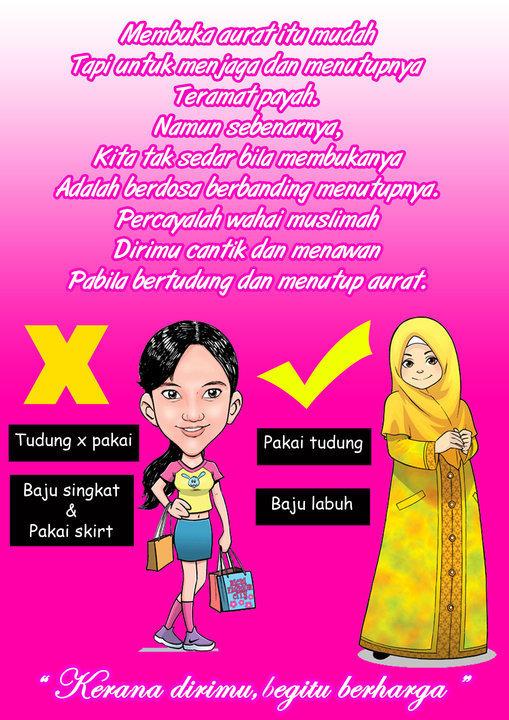 Garis Panduan Wanita Berpakaian Menurut Islam,