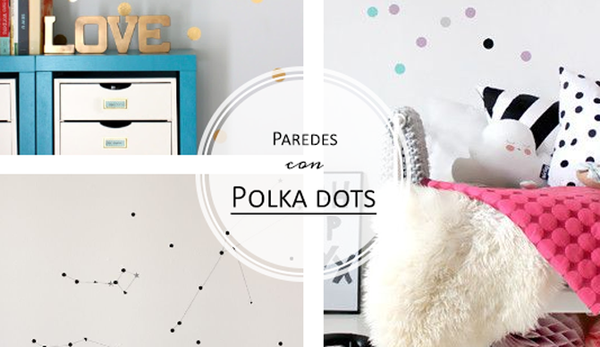 Decorar paredes Polka dots