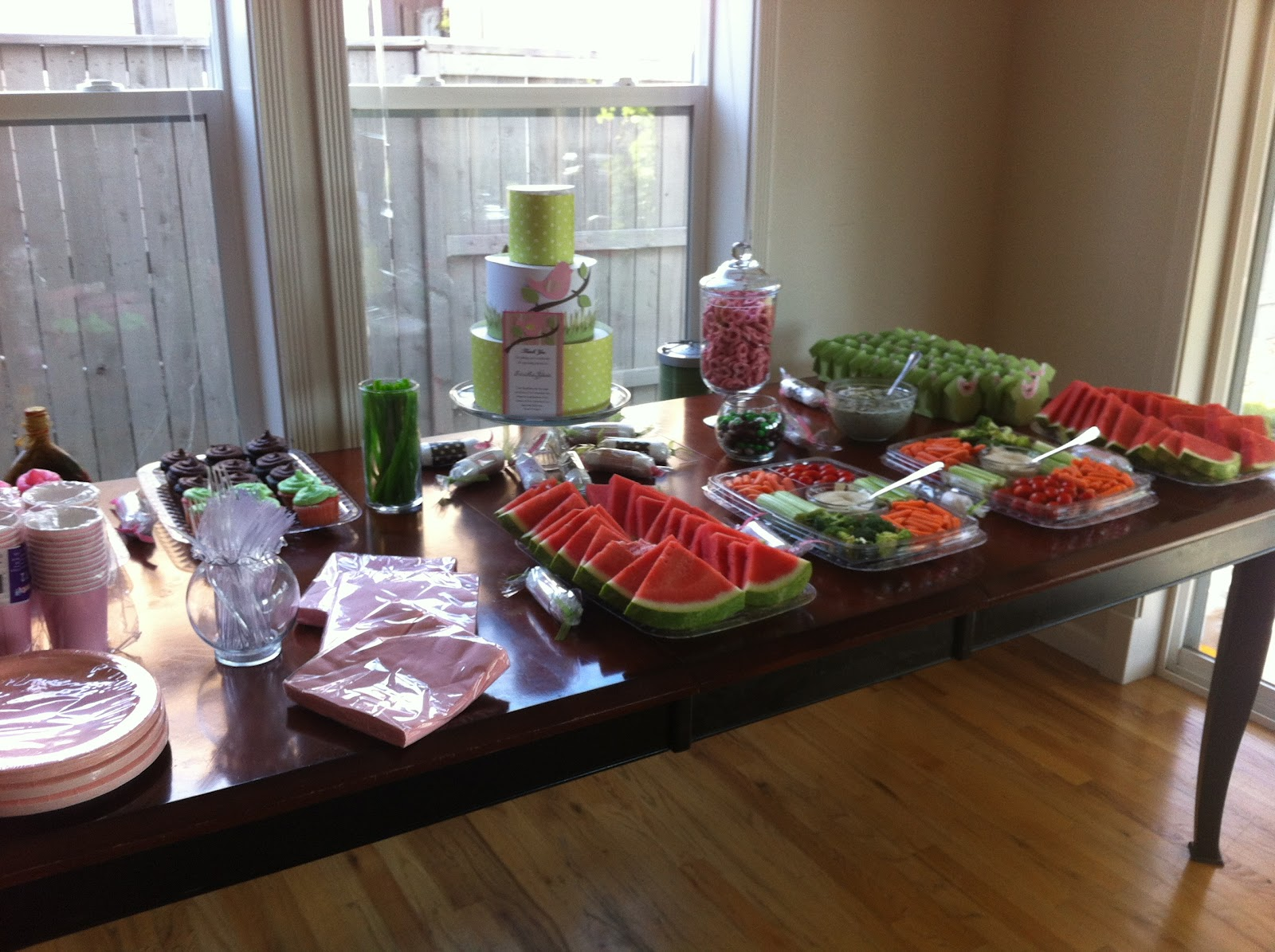 great creations baby shower food table