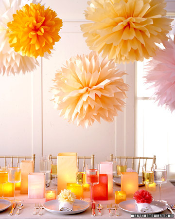 DIY Wedding Setting the Table