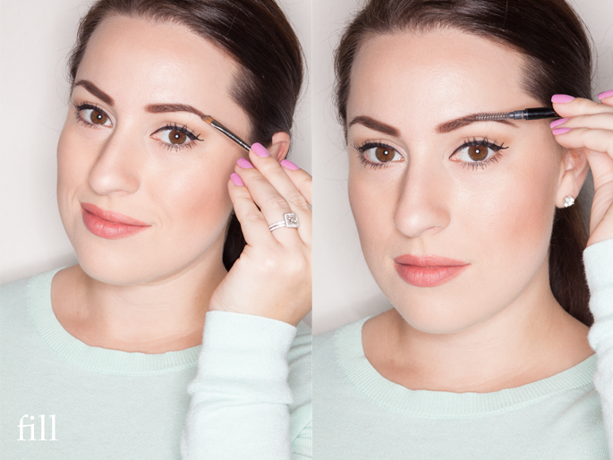 eyebrow tutorial, anastasia beverly hills, benefit gimme brow