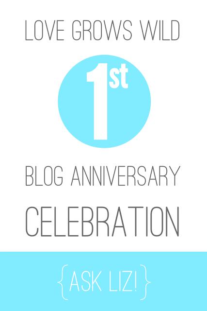 Love Grows Wild Blog Anniversary Celebration www.lovegrowswild.com