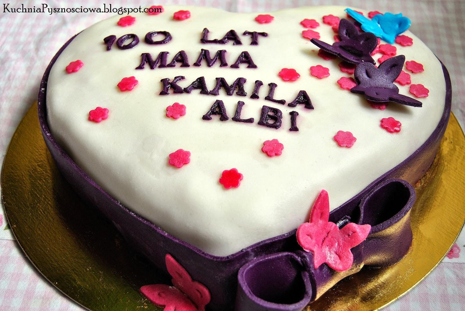 Tort serce na potrójne urodziny