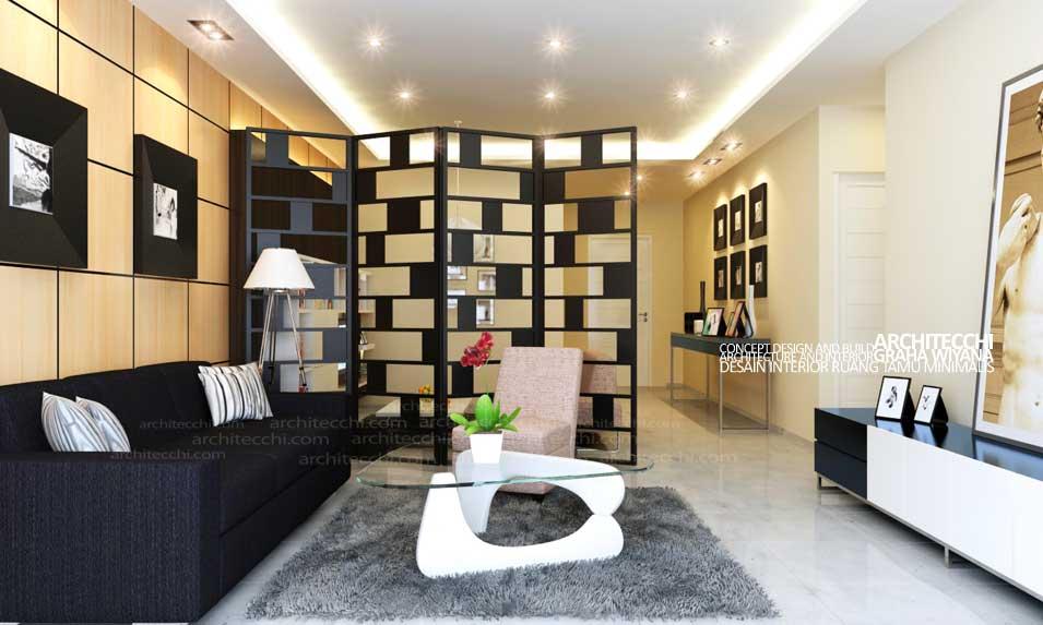 13 desain ruang tamu minimalis berkesan mewah modern