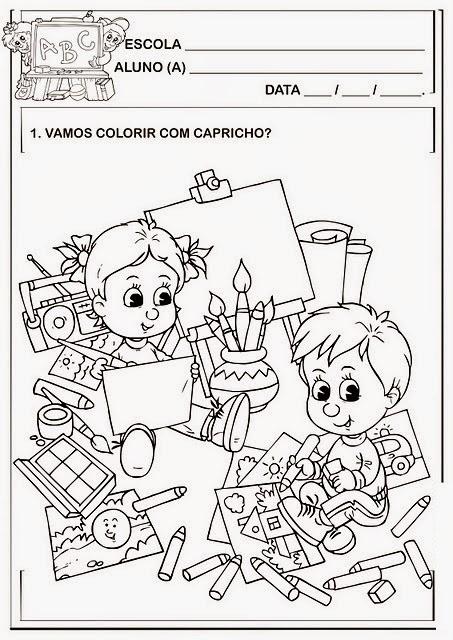 Desenhos Volta às Aulas Para Colorir Ensinando Com Carinho