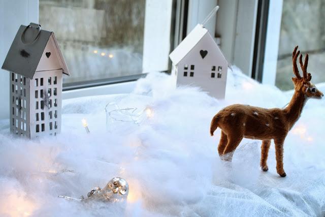 joulumaa lastenhuoneeseen, talvimaisema