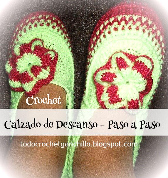 Pantuflas crochet paso a paso