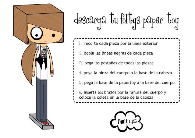 foltys paper toy: instrucciones