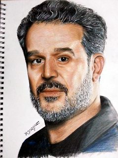 Portrait BK Basim Al Karblae by color pencil
