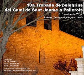 Décimo encuentro de peregrinos del Camino de Santiago en Pallerols