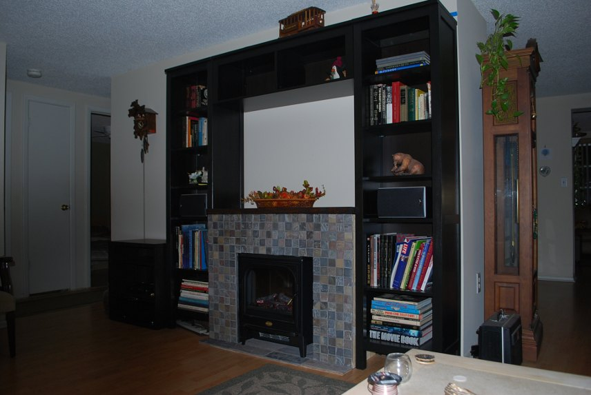 Ikea Mandal Headboard Review ~   used a hemnes entertainment center minus the center piece built