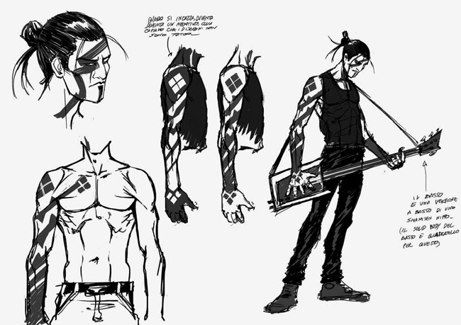 hero the bass player character design stefano dell'aria