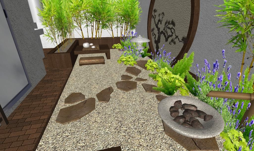 Garden on pinterest roof deck decks and zen for Diseno jardines