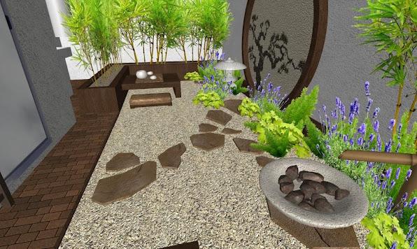 foto render2 - diseno jardines online patio oriental japones - fuente
