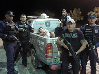 Assaltante Cícero Lunga, acusado de homicídio é preso pela PM de Varjota e Reriutaba.