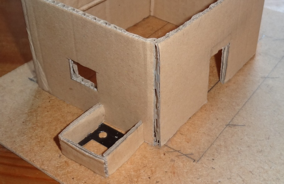 Fantasy battles making a papier mache adobe house wip - How to build an adobe house ...