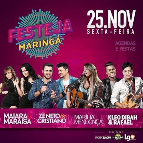 FESTEJA MARINGÁ - PR 2016 NO PARQUE DE EXPOSIÇÕES 25 DE NOVEMBRO