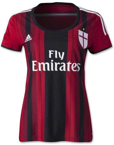 AC Milan 14-15 Women's Home Soccer Jersey