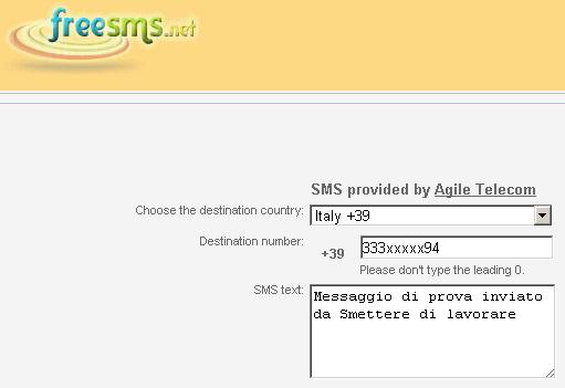 inviare messaggi senza soldi