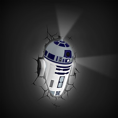 Lámpara de Pared 3D R2-D2