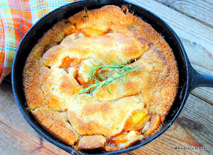 Rosemary Crusted Peach Cobbler