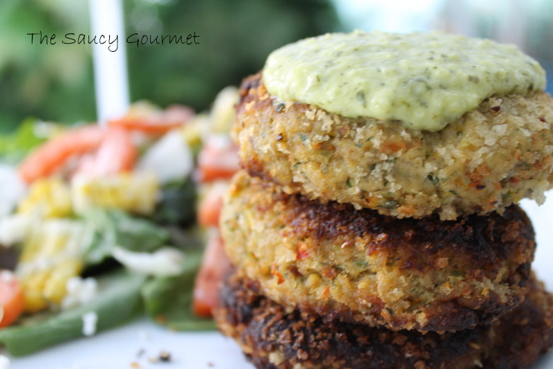 The Saucy Gourmet: Panko Crusted Salmon Cakes