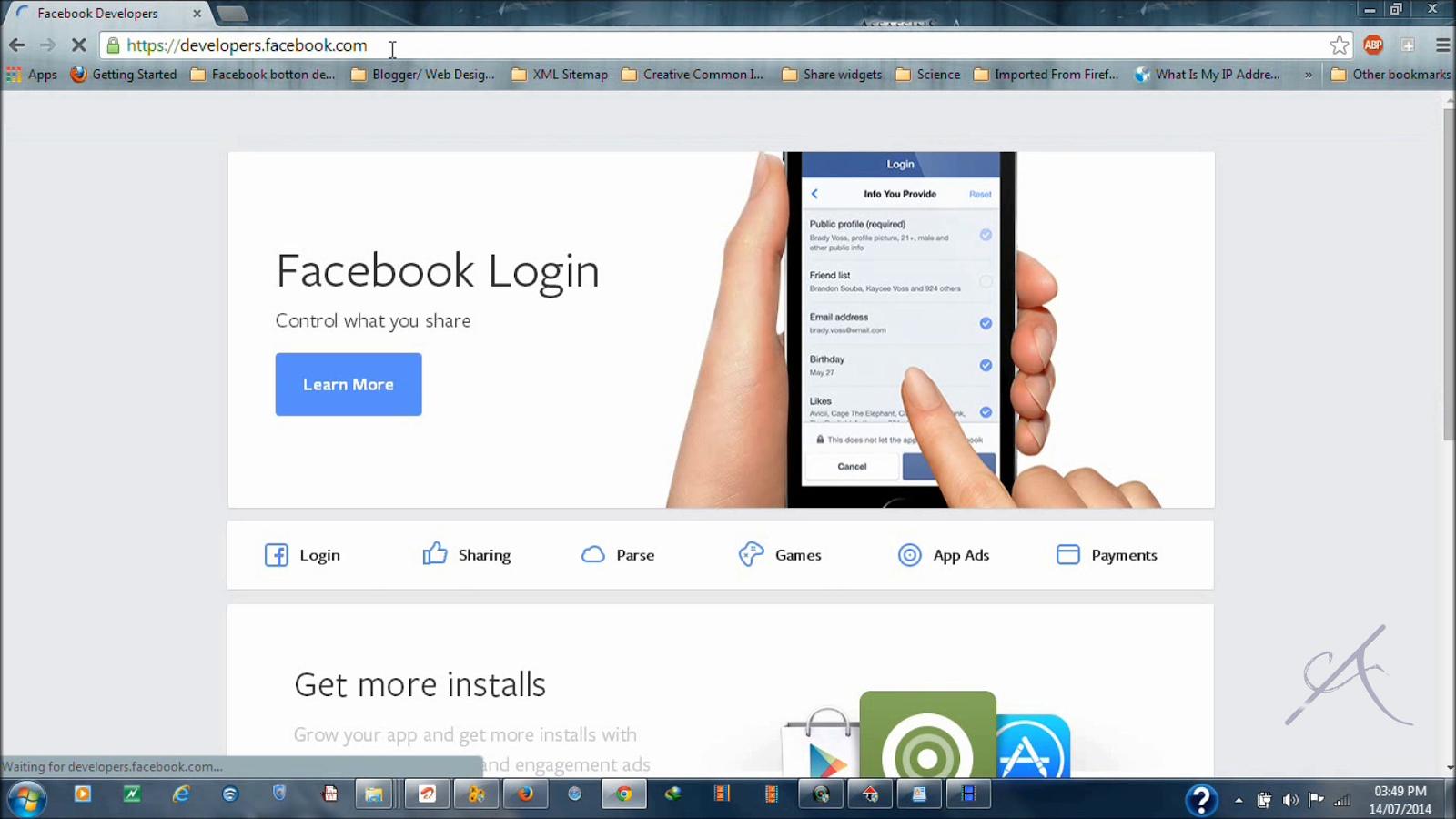 Facebook App for Social plugins