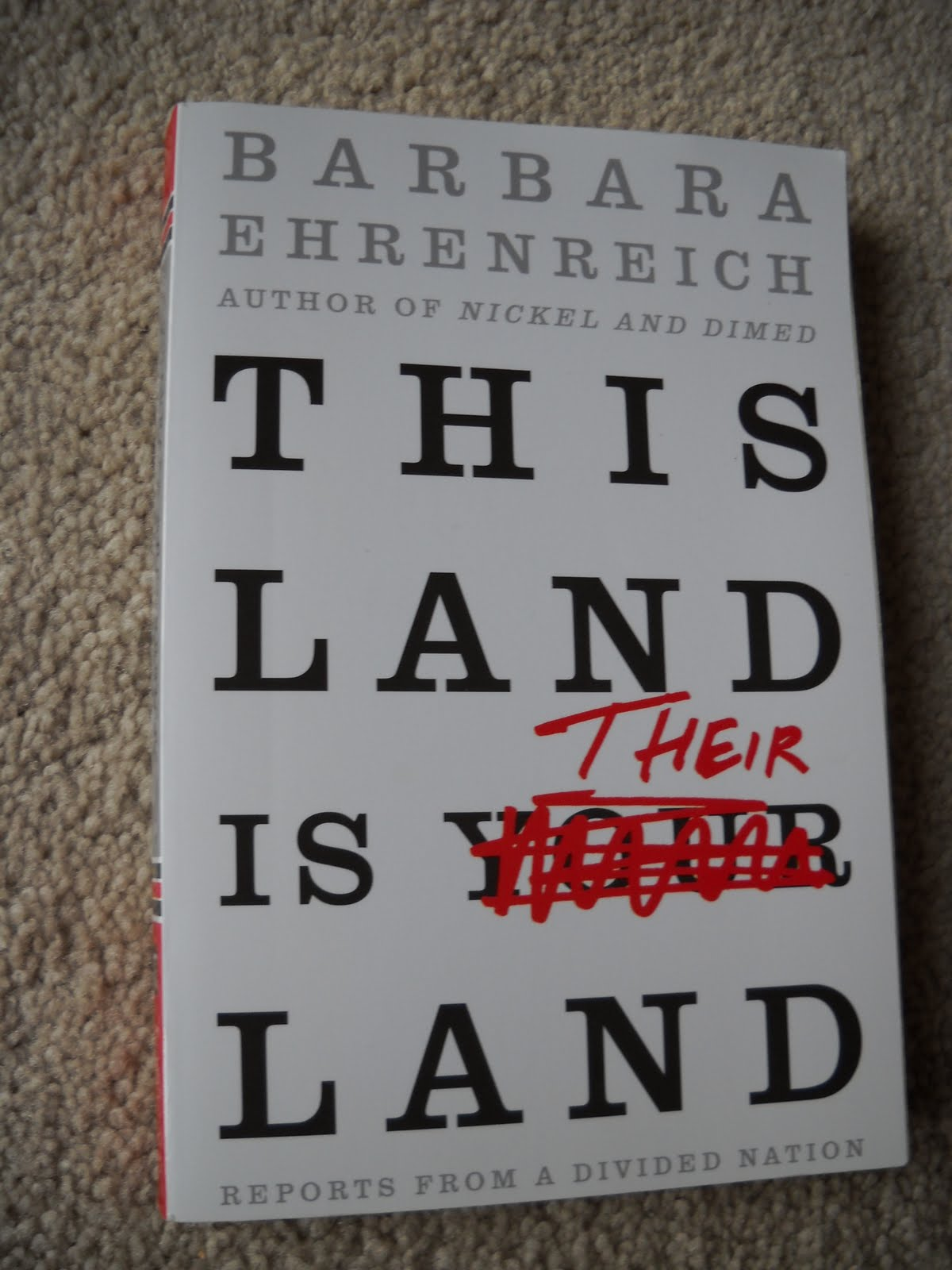 this land is their land by barbara ehrenreich essays Social critic barbara ehrenreich has written about living as a low-wage worker (nickel and dimed) and looking for a white-collar job (bait and switch)she spoke recently with time's jeremy caplan about her new book, this land is your land: reports from a divided nation, a collection of emotionally charged essays.