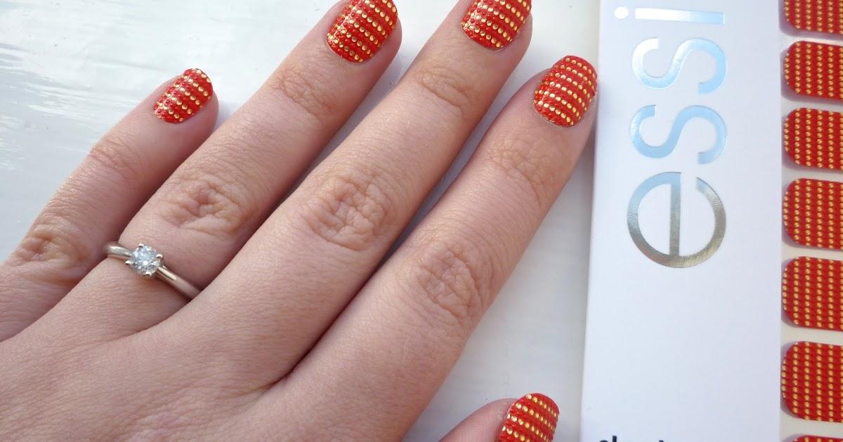 """NOTD: Essie """"So Haute!"""" Sleek Stick Nail Stickers ..."""