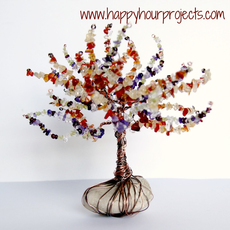 Wire Wrapped Tree - Happy Hour Projects