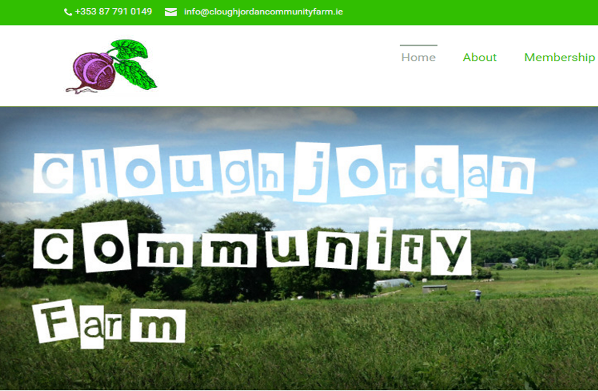 Cloughjordan Community Farm website