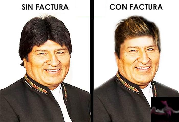 Viralizan la imagen que tendría Evo Morales tras pasar por la manos de Rodolfo Paz