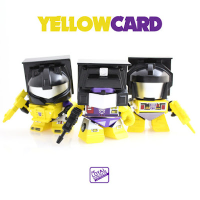 "San Diego Comic-Con 2015 Exclusive Transformers ""Yellow"" Constructicon Box Set by The Loyal Subjects - Bonecrusher, Longhaul & Scrapper"
