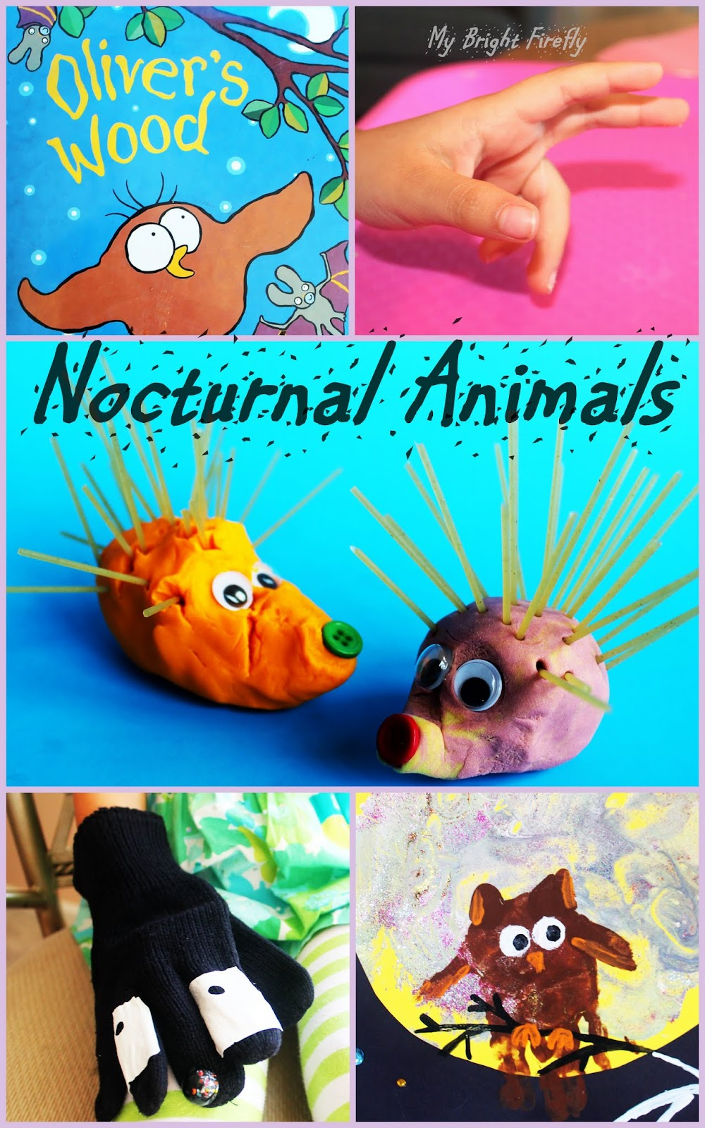 Image of: Diurnal Owl Badger And Hedgehog Preschool Crafts Nocturnal Animals My Bright Firefly Nocturnal Animals Preschool Activities Owl