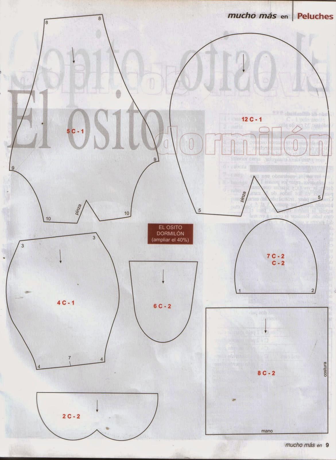 Moldes para hacer peluches - Cursos y tutoriales para manualidades
