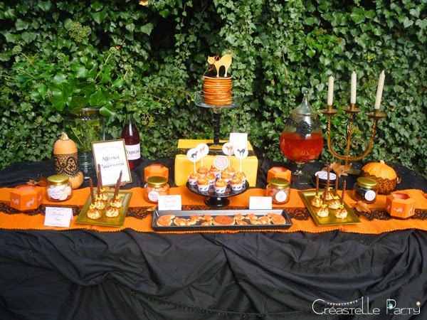 Halloween sweet table - witch / sorcière
