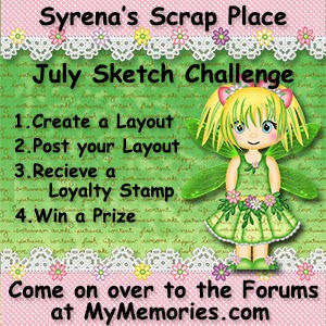 July Sketch Challenge at My Memories