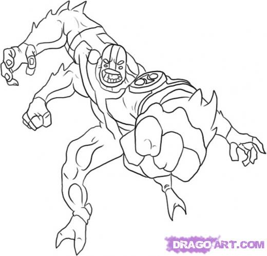 cartoons coloring pages - Ben Coloring Pages Alien Force