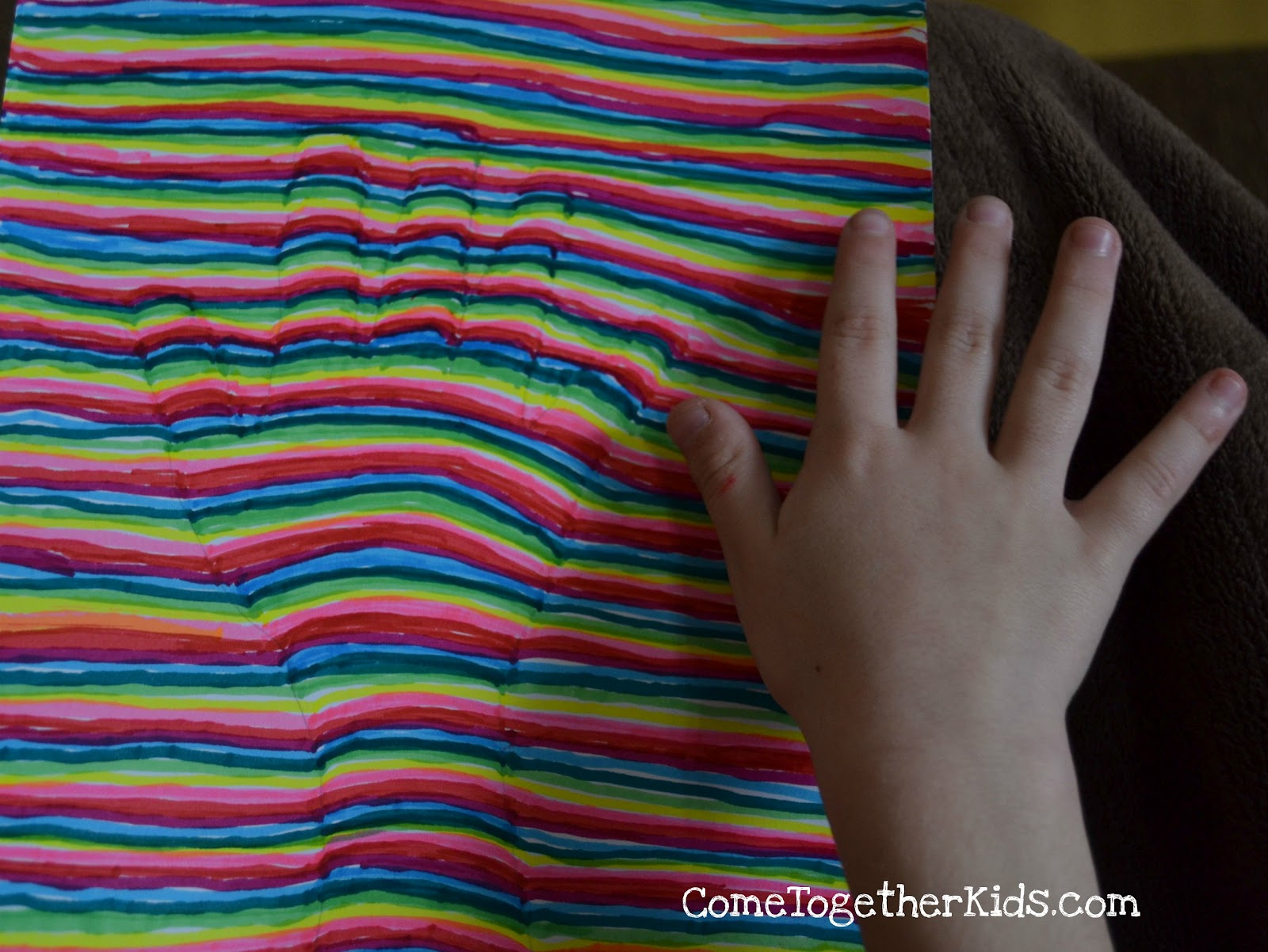 Come Together Kids: Optical Illusion Handprint