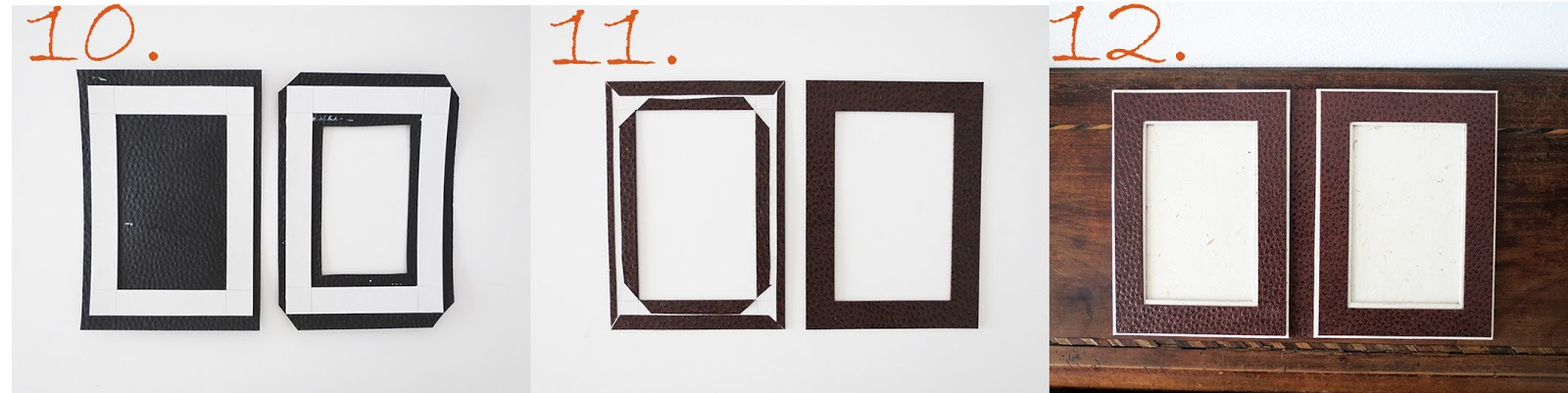 8 cut 2 rectangles on beige paper and glue on the front 9 cut angles and center fold and glue on the back you must have 2 beige frames - Diy Cardboard Picture Frame
